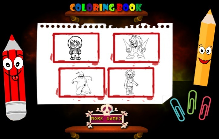 Scary Boy Coloring Book