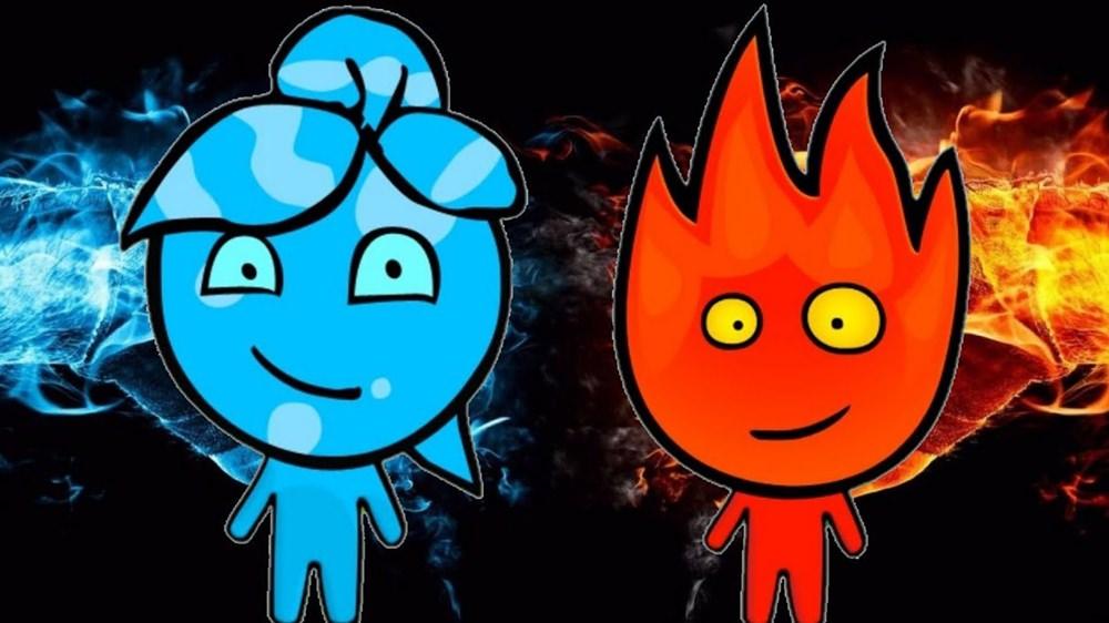 Personagens Garoto de Fogo a Menina da Água