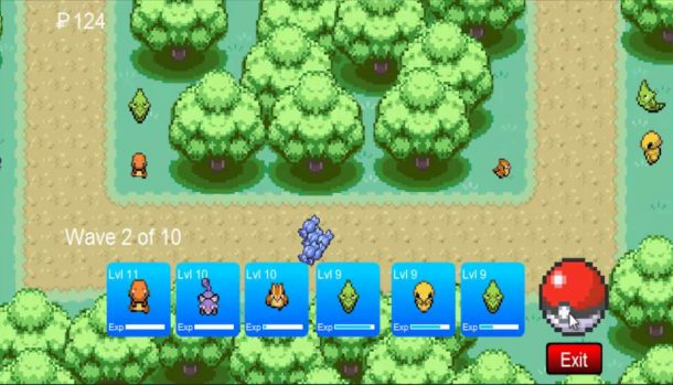 Jogo Pokemon Tower Defense