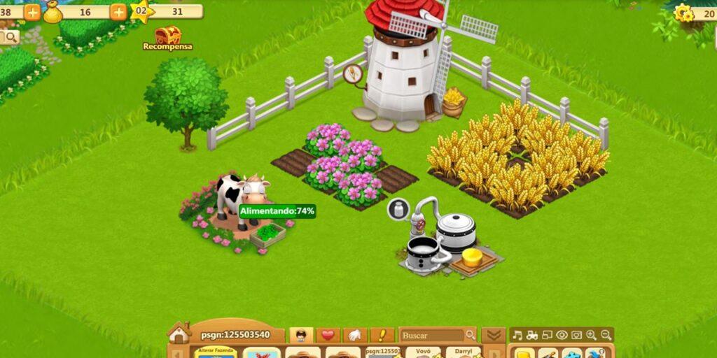 Jogo da Fazenda Feliz