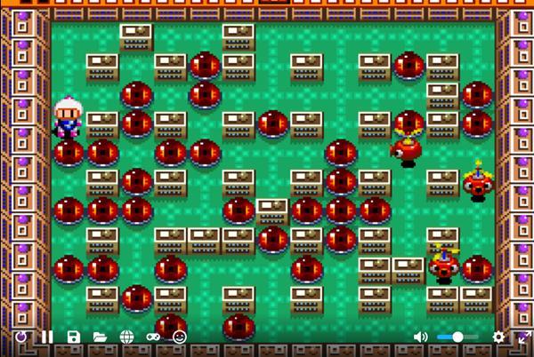 Fase do jogo Super Bomberman online grátis